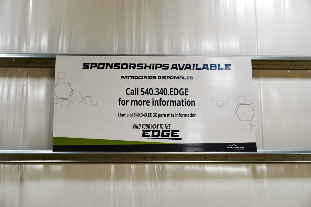 Indoor Sponsorship Signs